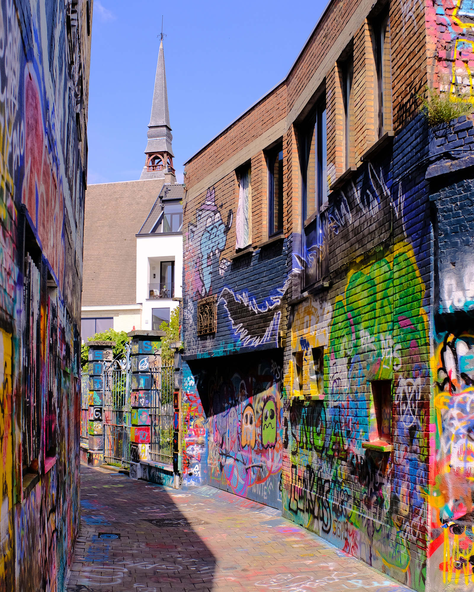 Graffiti Street, Ghent   Click image to enlarge