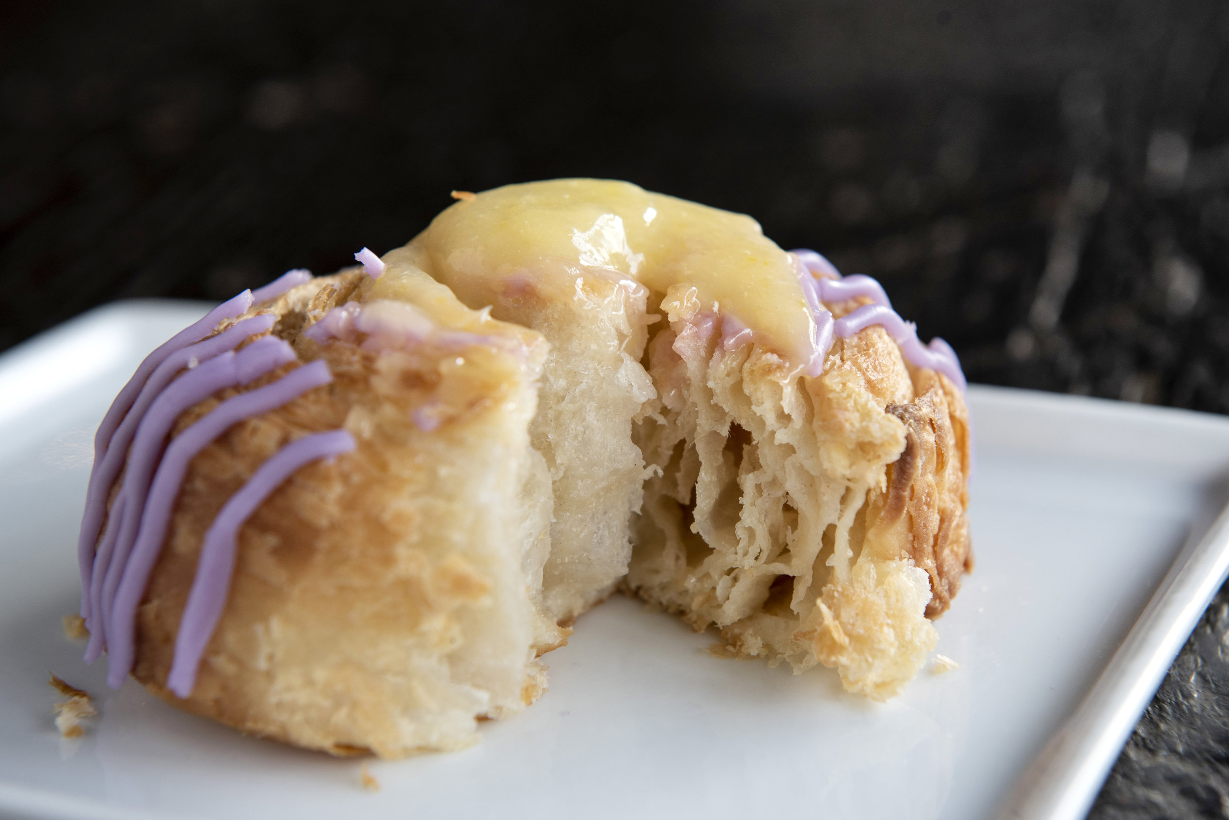 Purple Cabbage & Lemon Curd Danish