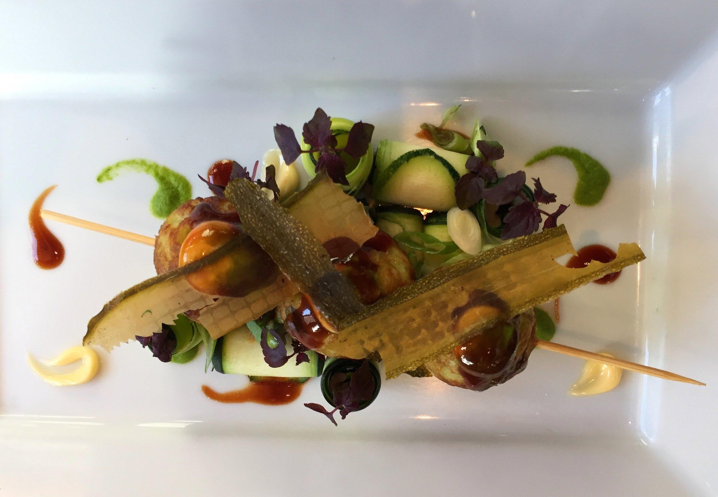 Zucchini Takoyaki,