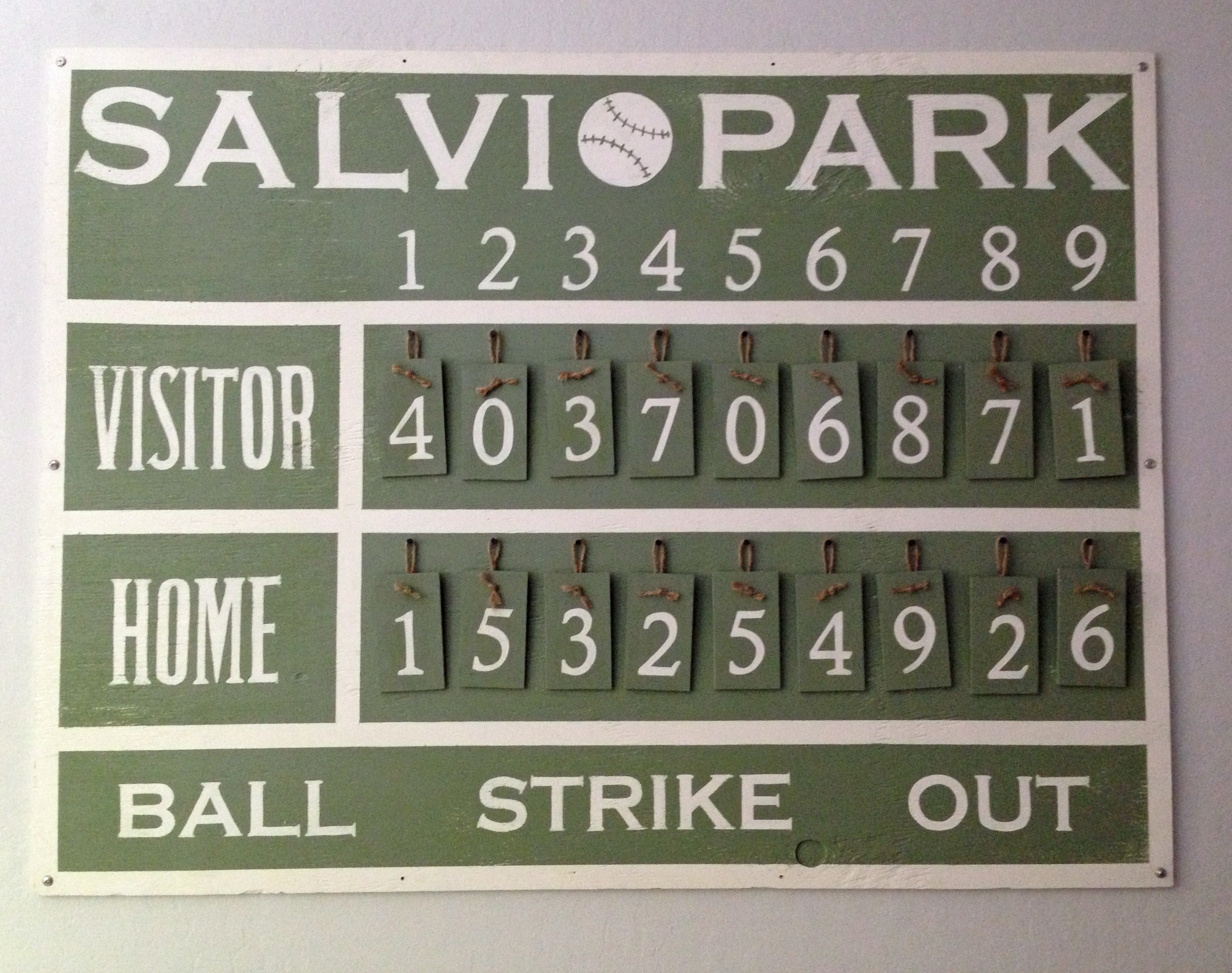 Custom name Ball Park Sign