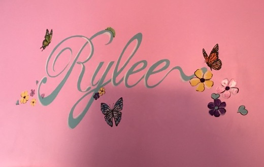 Script name with butterflies