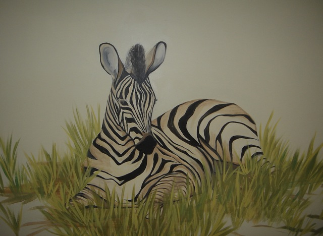 Baby Zebra from Safari Mural