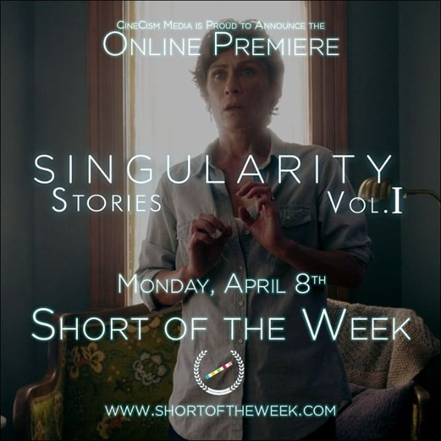 In case you missed it, we made a BIG ANNOUNCEMENT on Monday...Singularity Stories Vol. I will be premiering online on Monday, April 8th, for free, on Short of the Week!!!⠀ shortoftheweek.com⠀ ⠀ So please, please, please check it out, tell all your friends about it, and...hopefully...enjoy the show!⠀ ⠀ And tickets are still available for our screening at this year's Wisconsin Film Festival, on Friday, April 5th at 9p in Madison, WI. Tickets available here: https://buff.ly/2Hl7oU1⠀ ⠀ Finally, why don't you check out our website? On that Monday the 8th, we'll be revamping it to include the movie and a bunch of behind-the-scenes extras, so bookmark it now so you can stop by later!⠀ cinecismmedia.com⠀ ⠀ That's all for now, but the hits just keep on coming!⠀ ⠀ #shortoftheweek #wifilmfest #cinecismmedia #cinecism #singularitystories #singularity #ai #artificial intelligence #shortfilm #indiefilm #neverstoppromoting
