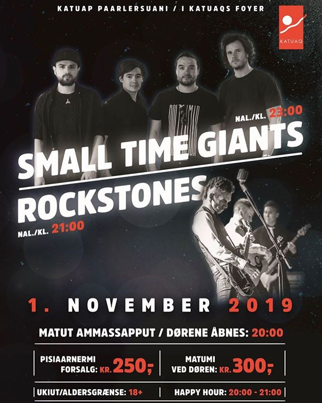 We're so excited to announce we're playing in Nuuk with Rockstones in November! See you there soon!! 🇬🇱