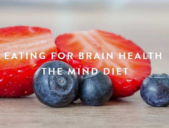 "The MIND diet has been growing in popularity and research suggests that this diet can help reduce risk of Alzheimer's disease and slow the loss of brain function over time. The term ""diet"" here refers to a pattern of eating and not a weight loss diet. The diet is a combination of the DASH diet and Mediterranean diet and includes so many amazing foods like berries, nuts, and fish. To learn more about it, check out my latest blog post. Link in profile.  #minddiet #brainfood #mentalwellness #eatwellbewell #mentalhealthadvocate #berries #omega3 #nuts #fish #mediterraneandiet #mood #brainhealth #alzheimersawareness #cognition  #aging #mentalwellbeing #agewell #healthybodyandmind #healthyeatinghabits"