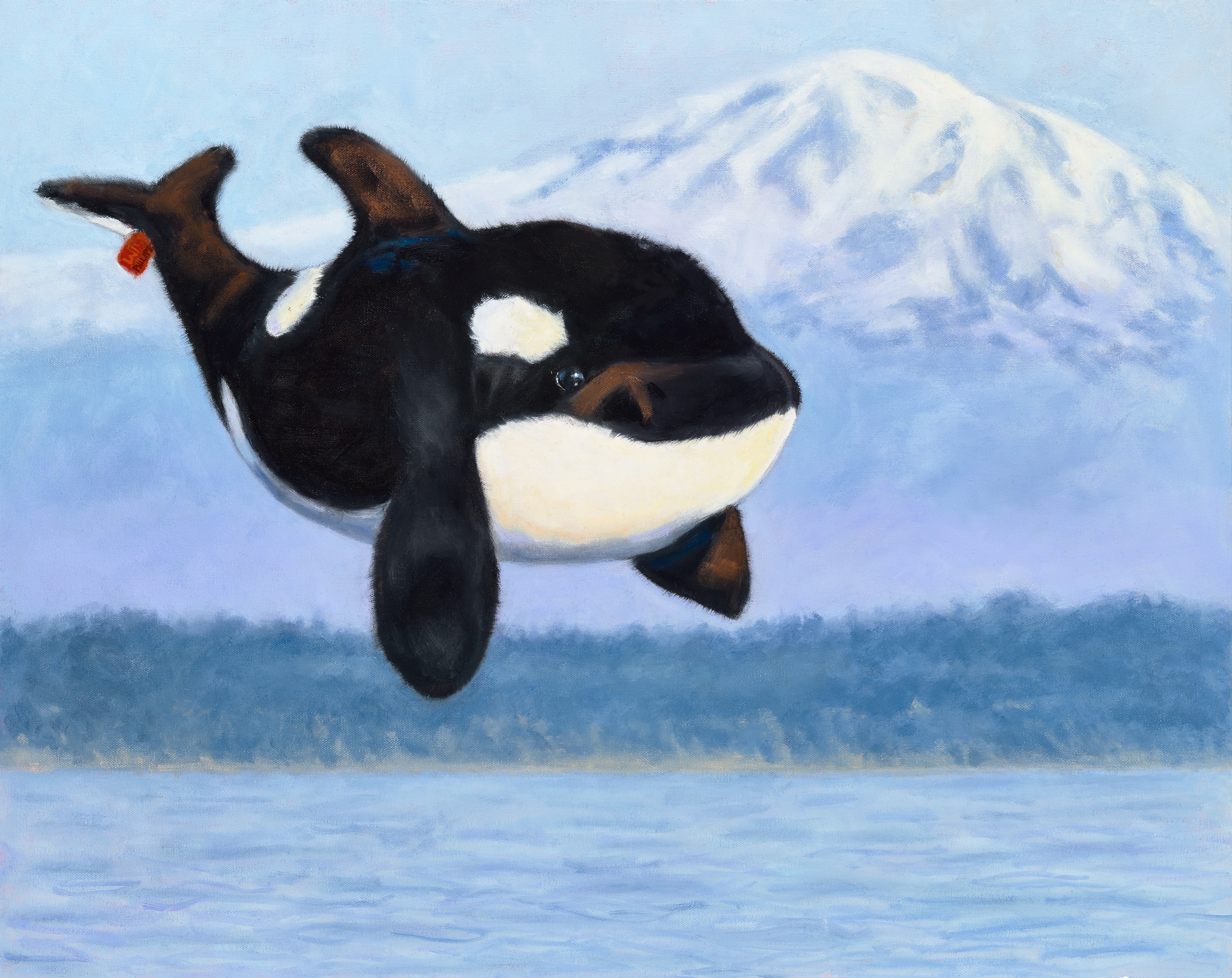 """Last Call: Orcas"", Oil on Gallery Wrapped Canvas, copyright Lisa Philipps, 2019."