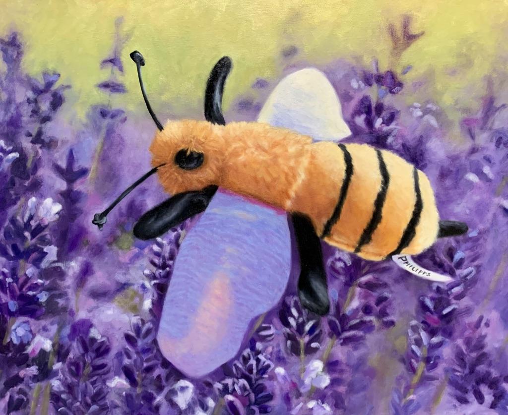 Endangered Species Series: Last Call, Honeybee. Oil on Gallery Wrapped Canvas.