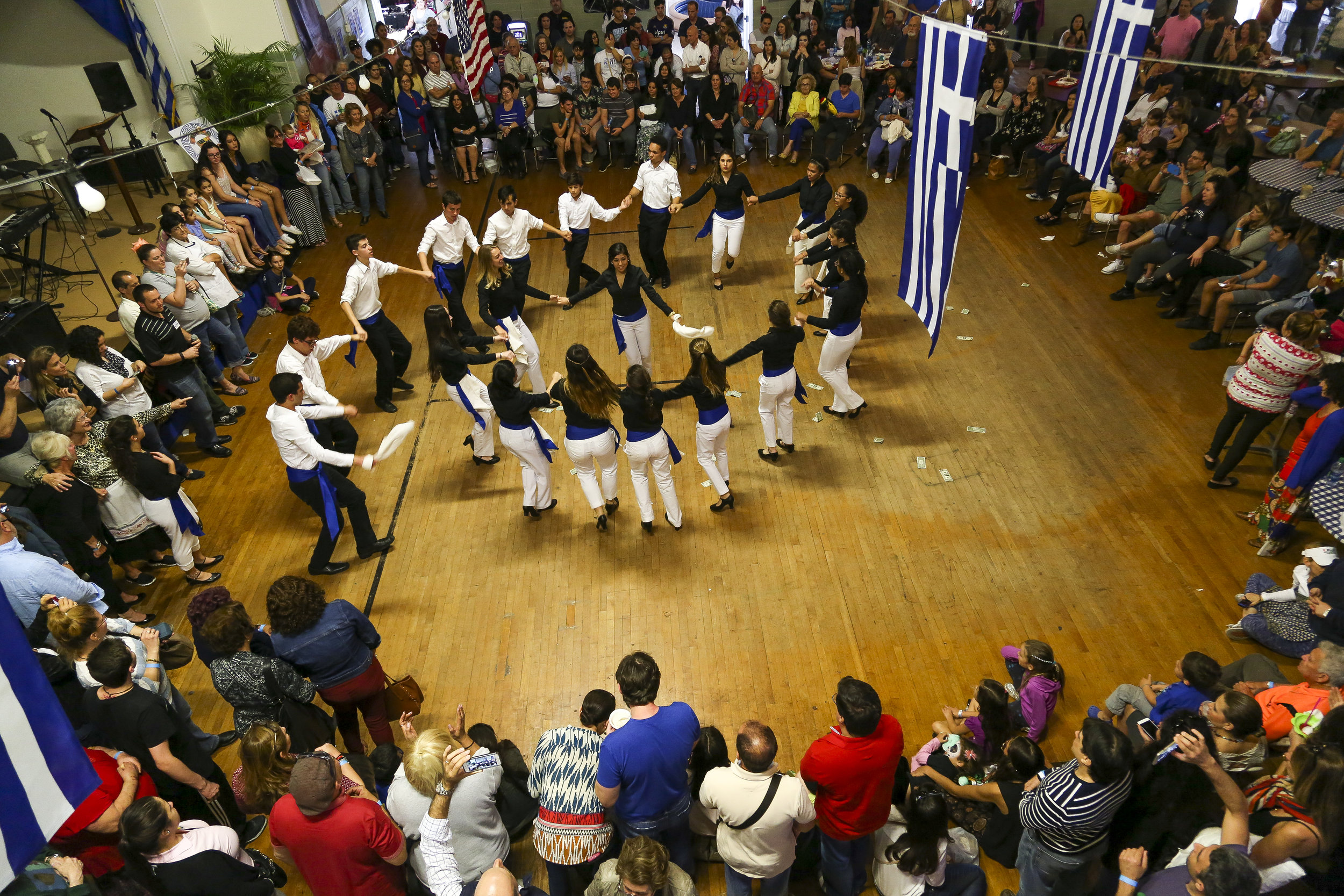 A group of greek dancers perform during Saint Sophia's 38th annual Greek Festival in Coral Way on Sunday, February 28, 2016. The festival featured a children's dance troupe, a variety of booths and cooking demonstrations among other events.