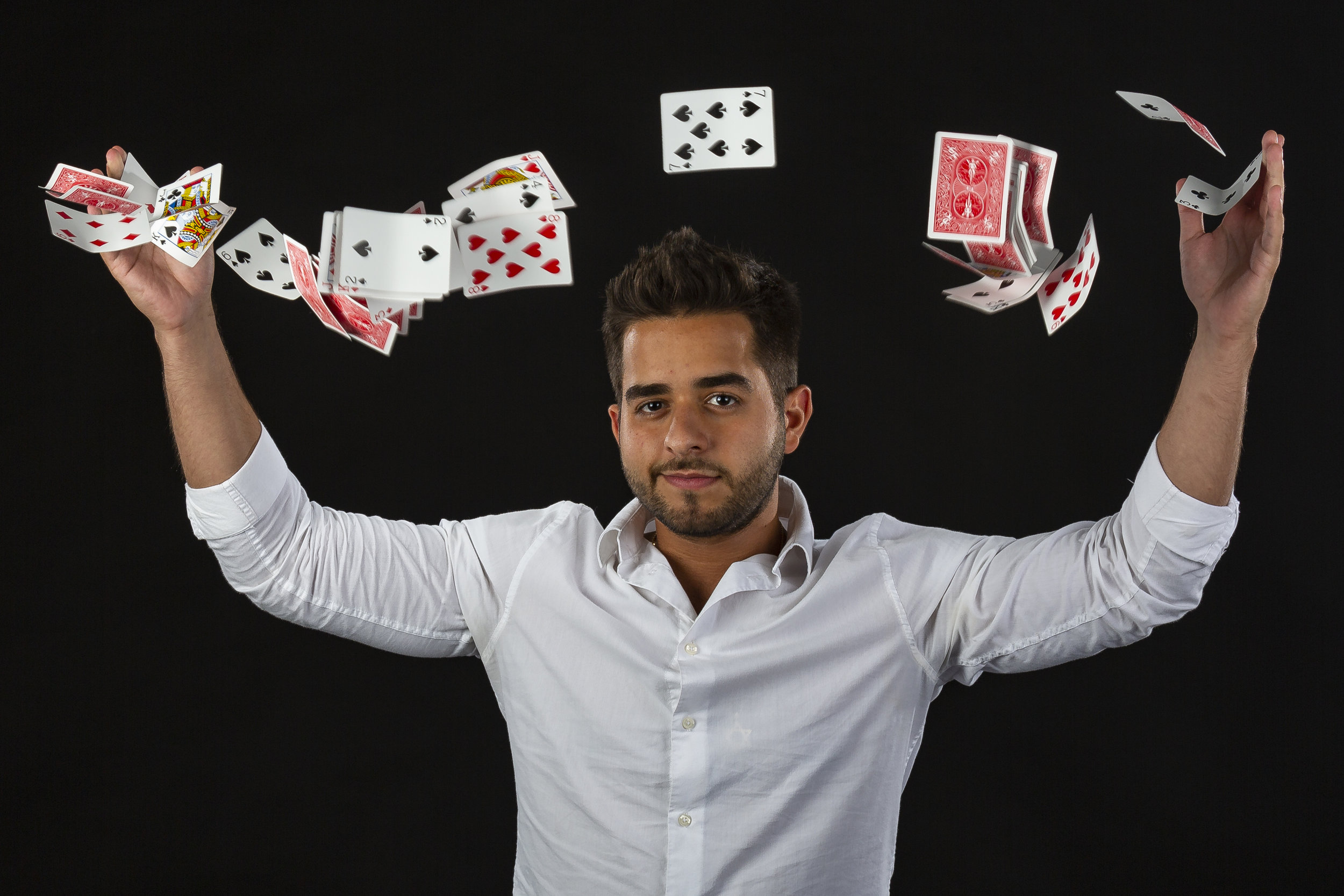Magician and social media influencer Michel Gallero visits the Miami Herald and el Nuevo Herald offices in Doral on Monday, July 23, 2018.