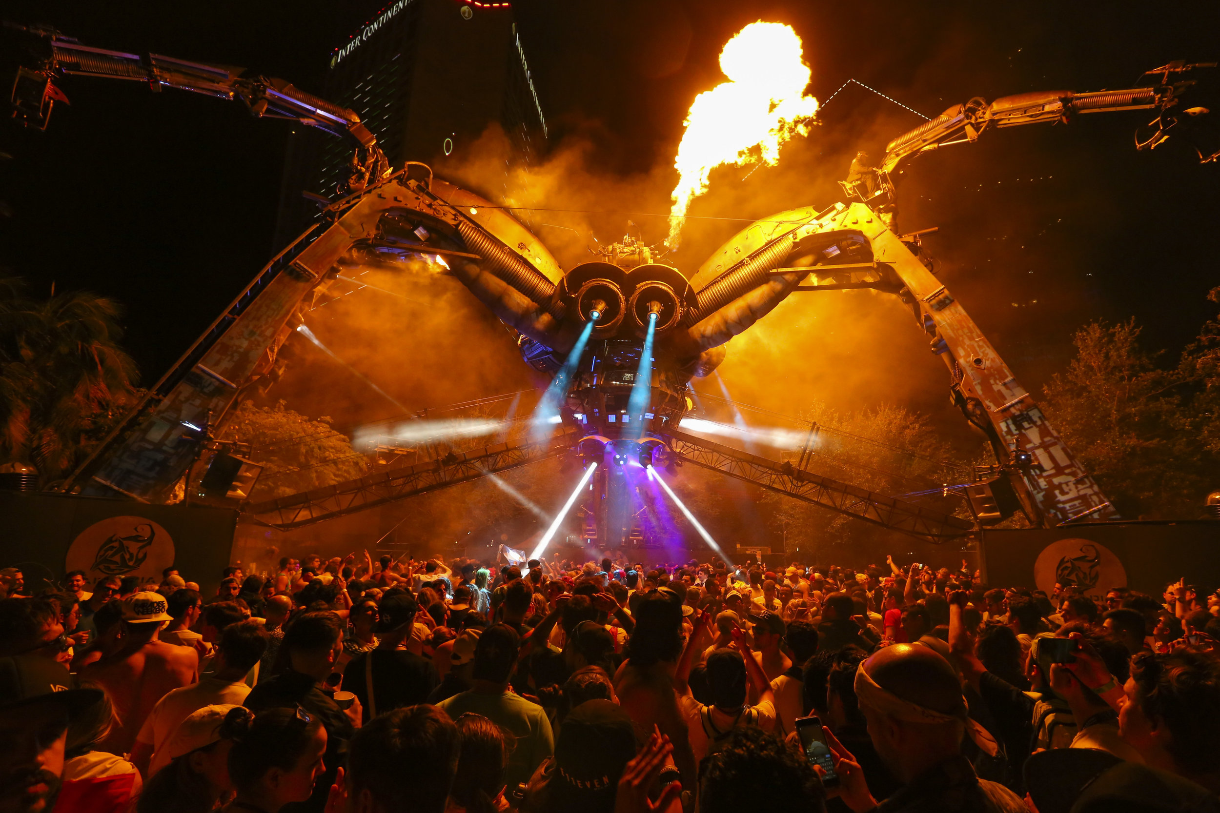 DJ Maceo Plex performs on the Arcadia Spider during the first day of the Ultra Music Festival in Bayfront Park on Friday, March 24, 2017.