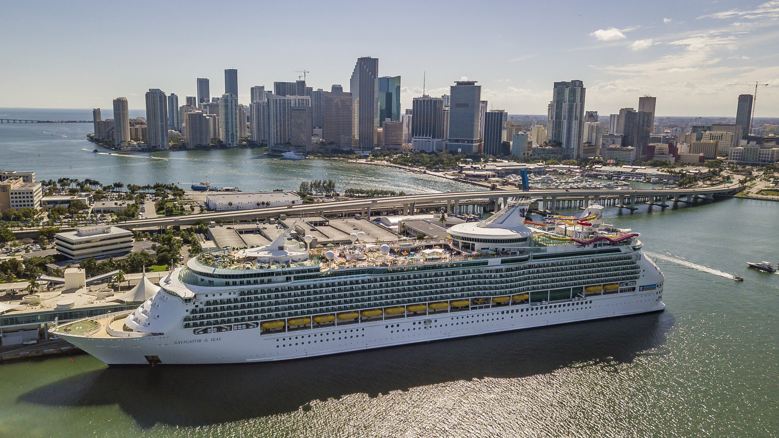 Royal Caribbean's newly renovated Navigator of the Seas docks at PortMiami on Friday, March 1, 2019. Royal Caribbean is in the process of spending $115 million to renovate some of their cruise ship lines like this one.