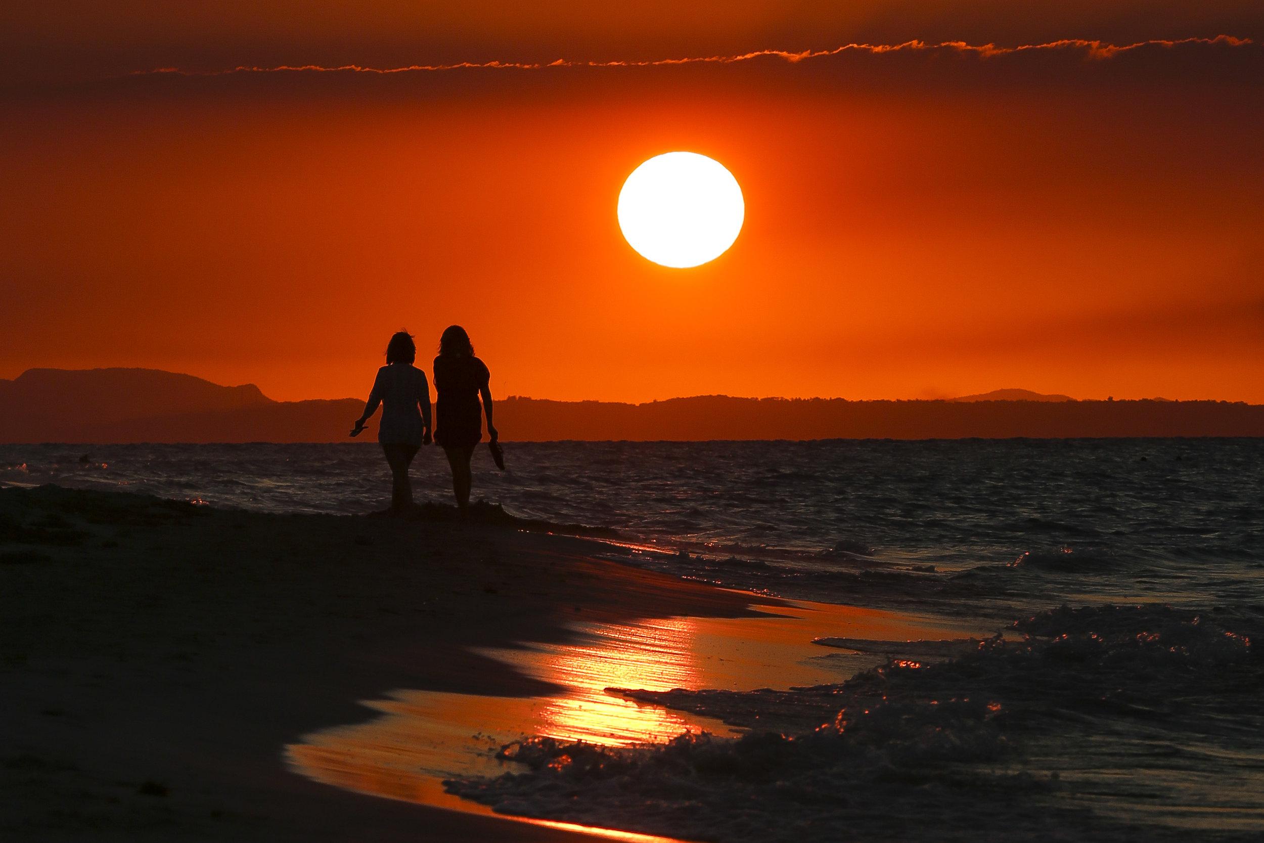 The sun sets in Varadero, Cuba on Tuesday, February, 14, 2017.