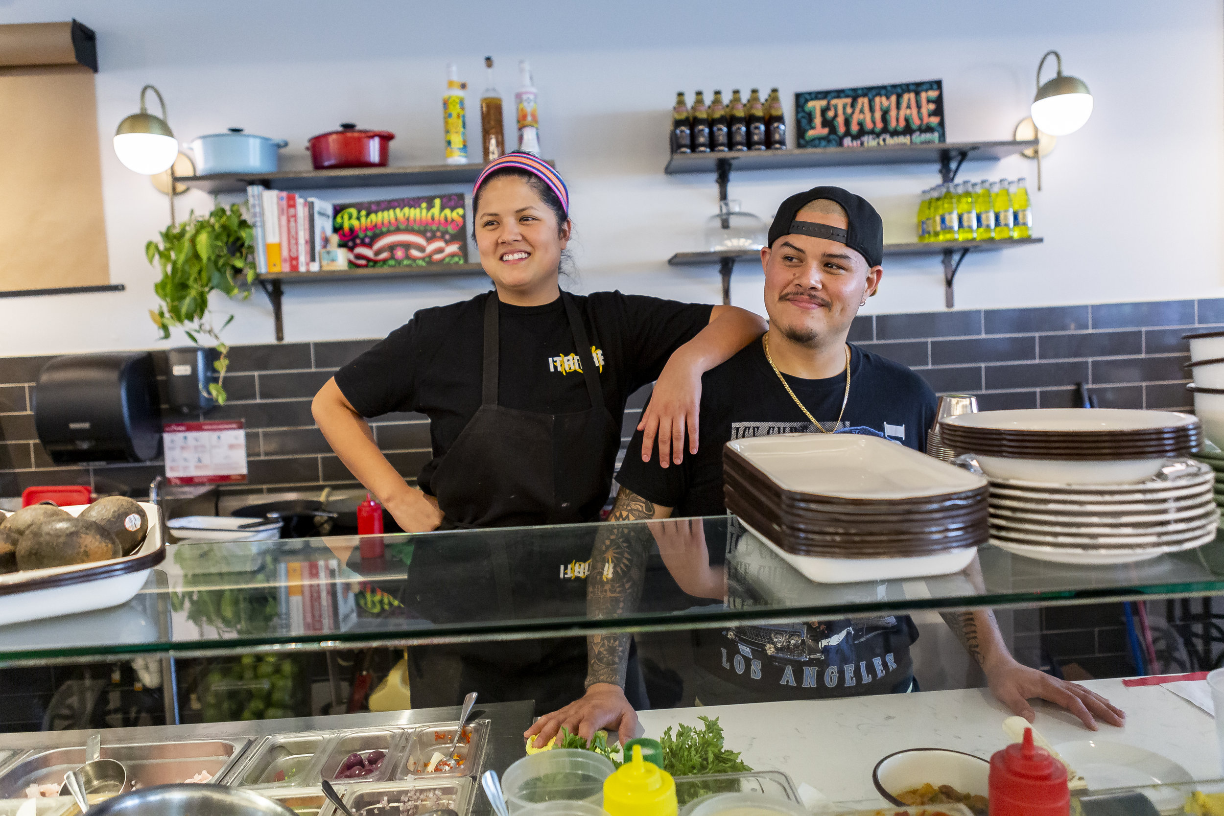 Nando Chang, 30, and his sister Val Chang, 27, work from their pop up Peruvian sushi shop inside the Design District in Miami on Saturday, March 16, 2019. The Changs have been nominated for a Rising Star James Beard award.
