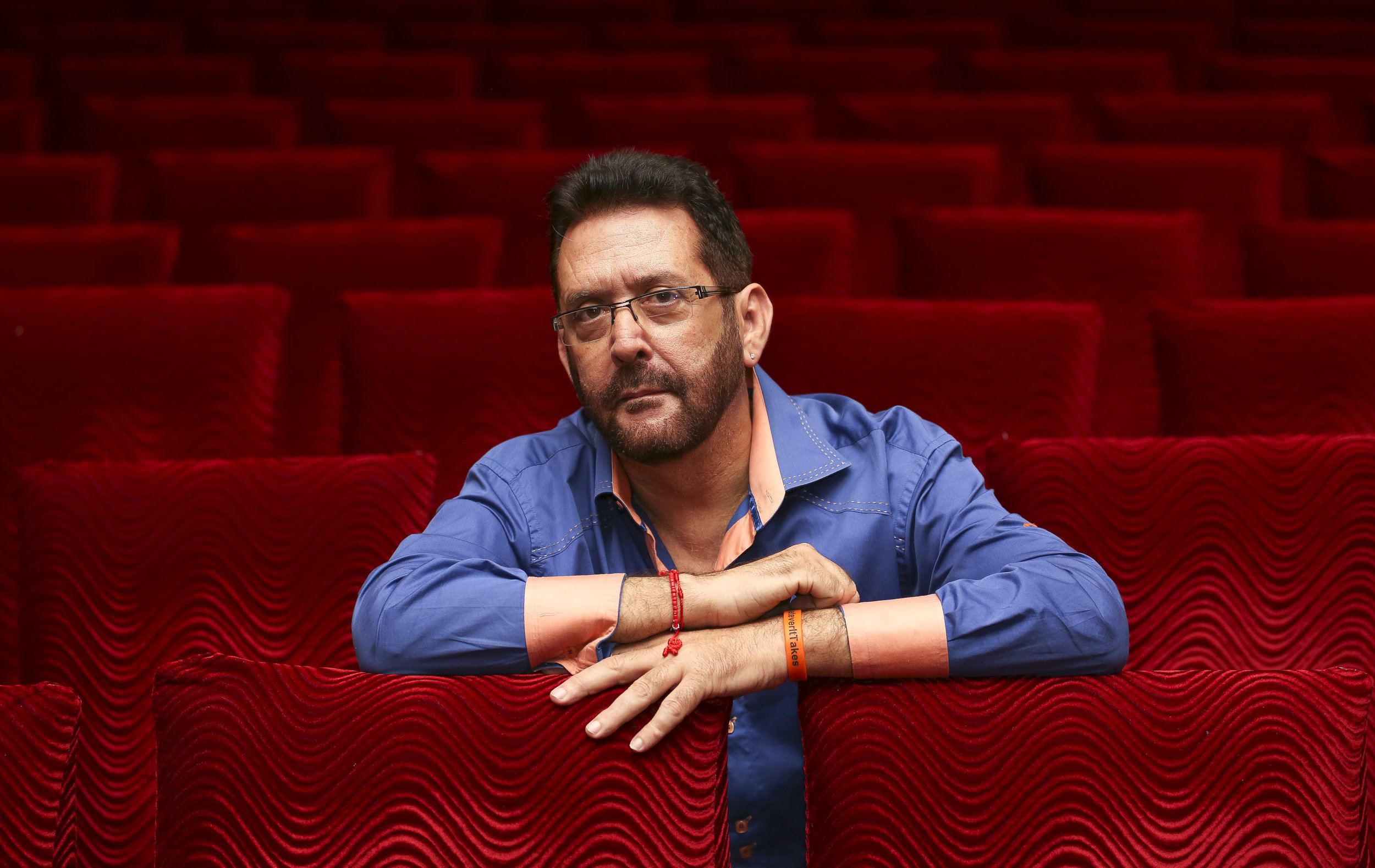 """Jesus Rafael, director and writer of the comedy """"Hasta Que Los Tarros Nos Separen,"""" holds for a photo at the Teatro de Bellas Artes in Little Havana on Sunday, August 7, 2016."""