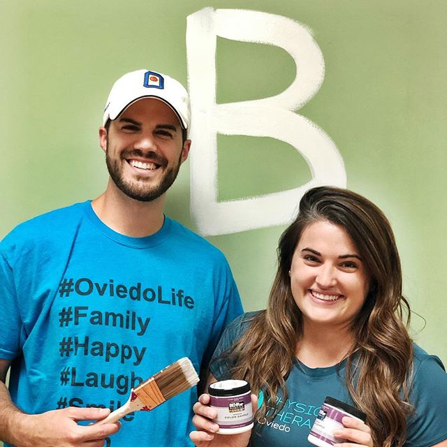 We spent May the Fourth doing some painting at our new office!  Baseboards done ✅  Giving you a sneak peak at what our new wall color might be 👀  Any guesses which one we'll pick?! #oviedo #oviedoflorida #oviedofl #newbusiness #oviedoonthepark #physicaltherapyflorida #centralfloridabusiness #seminolecountyfl #starwarsday2019 #alafayawoods #oviedolife
