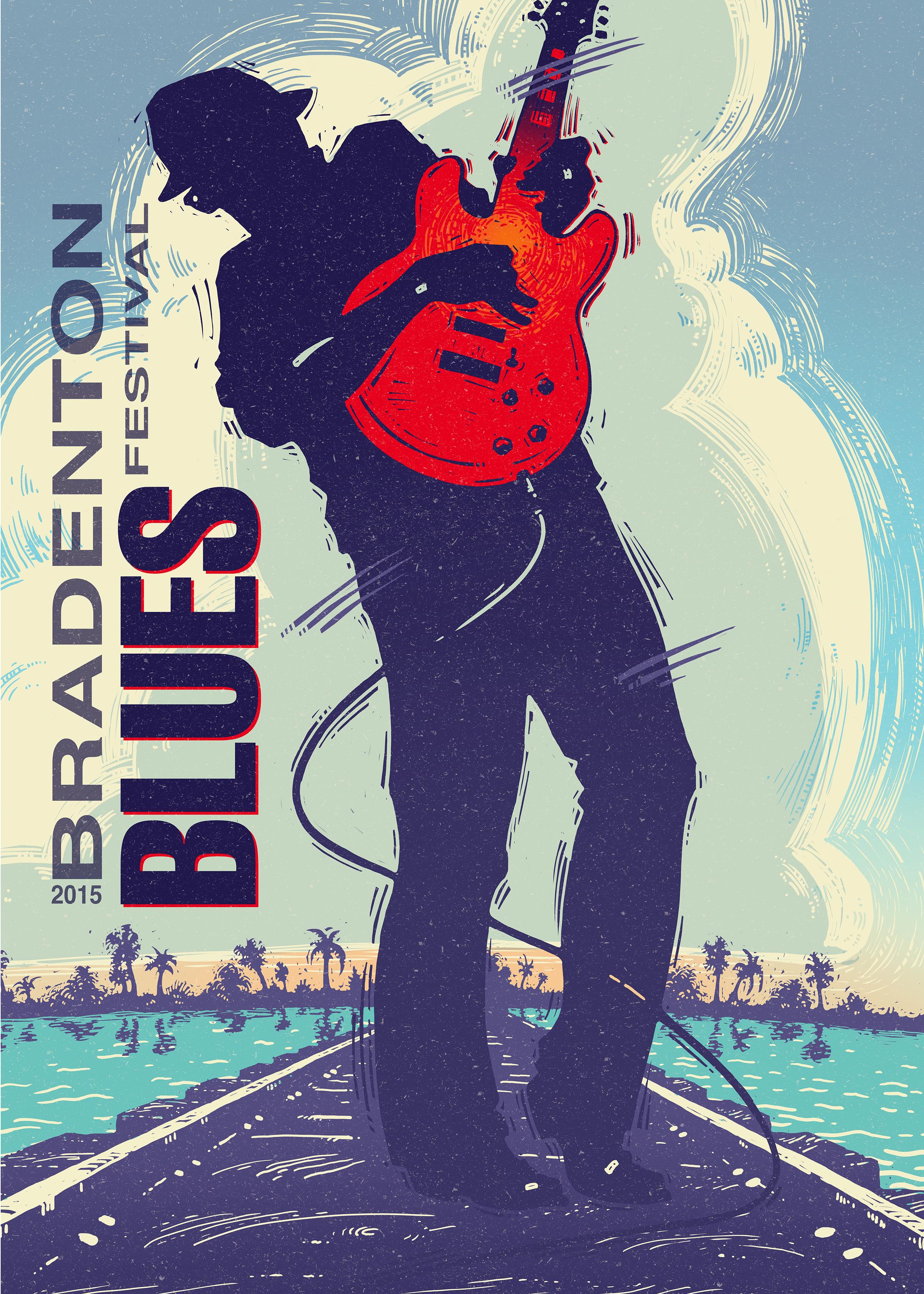 Bradenton Blues Festival Poster