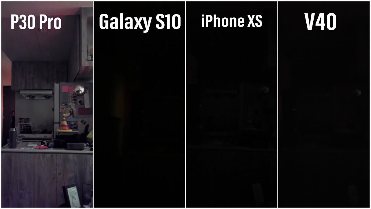 Comparison of the P30 Pro's night shot with AI stabilisation enabled compared to phones without AI stabilisation