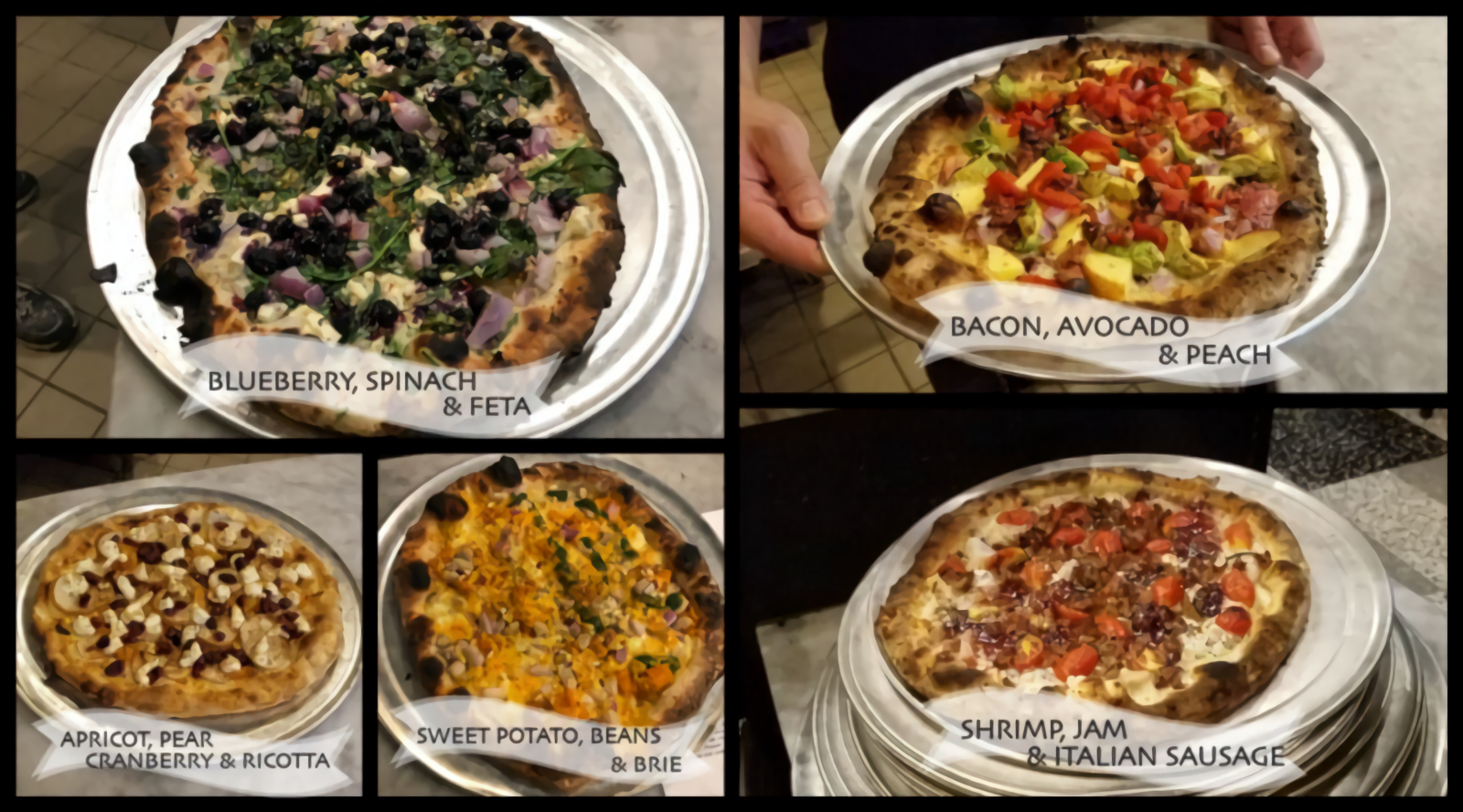 Some of the amazing pizzas!