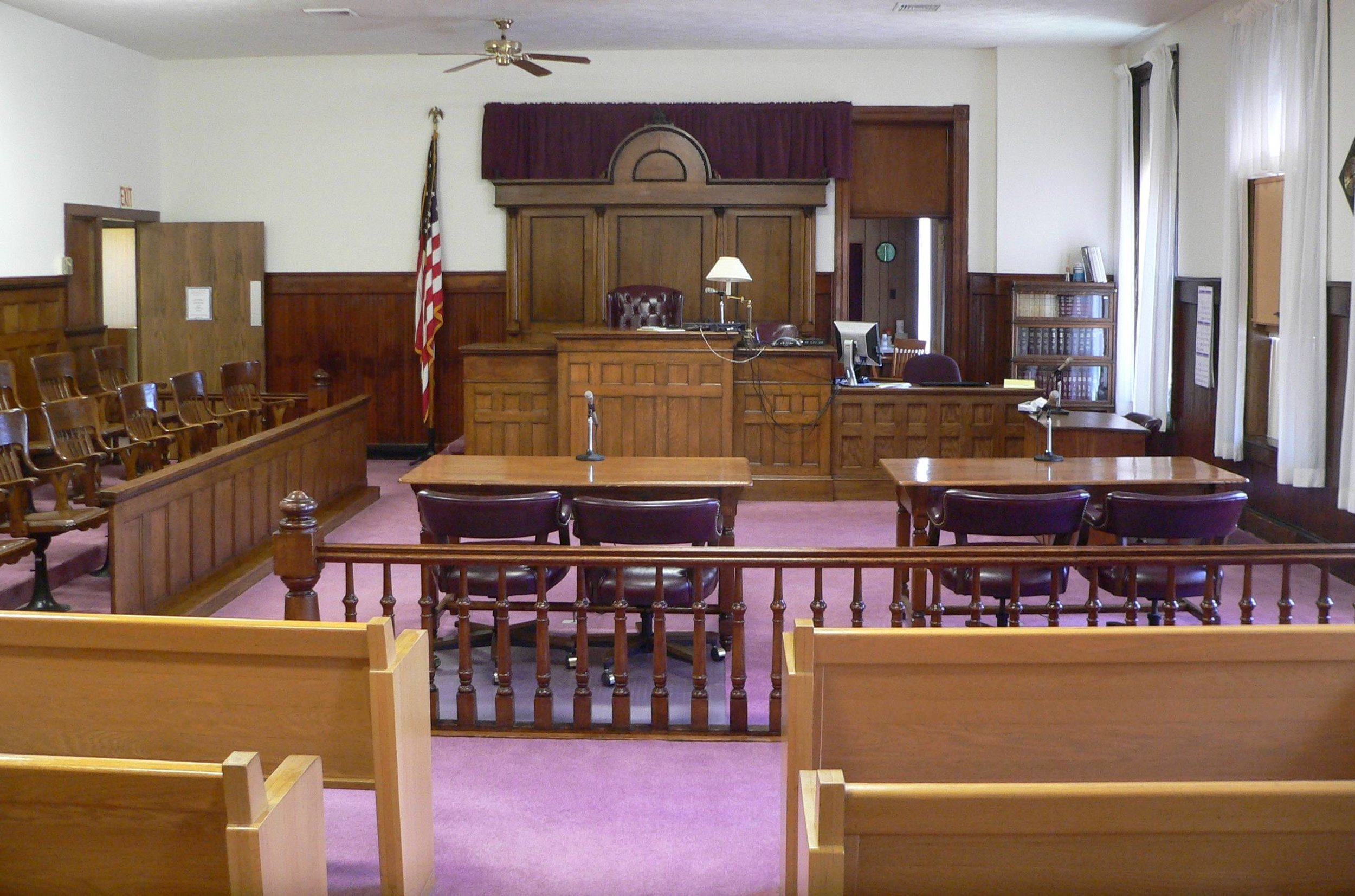 Typical US Courtroom
