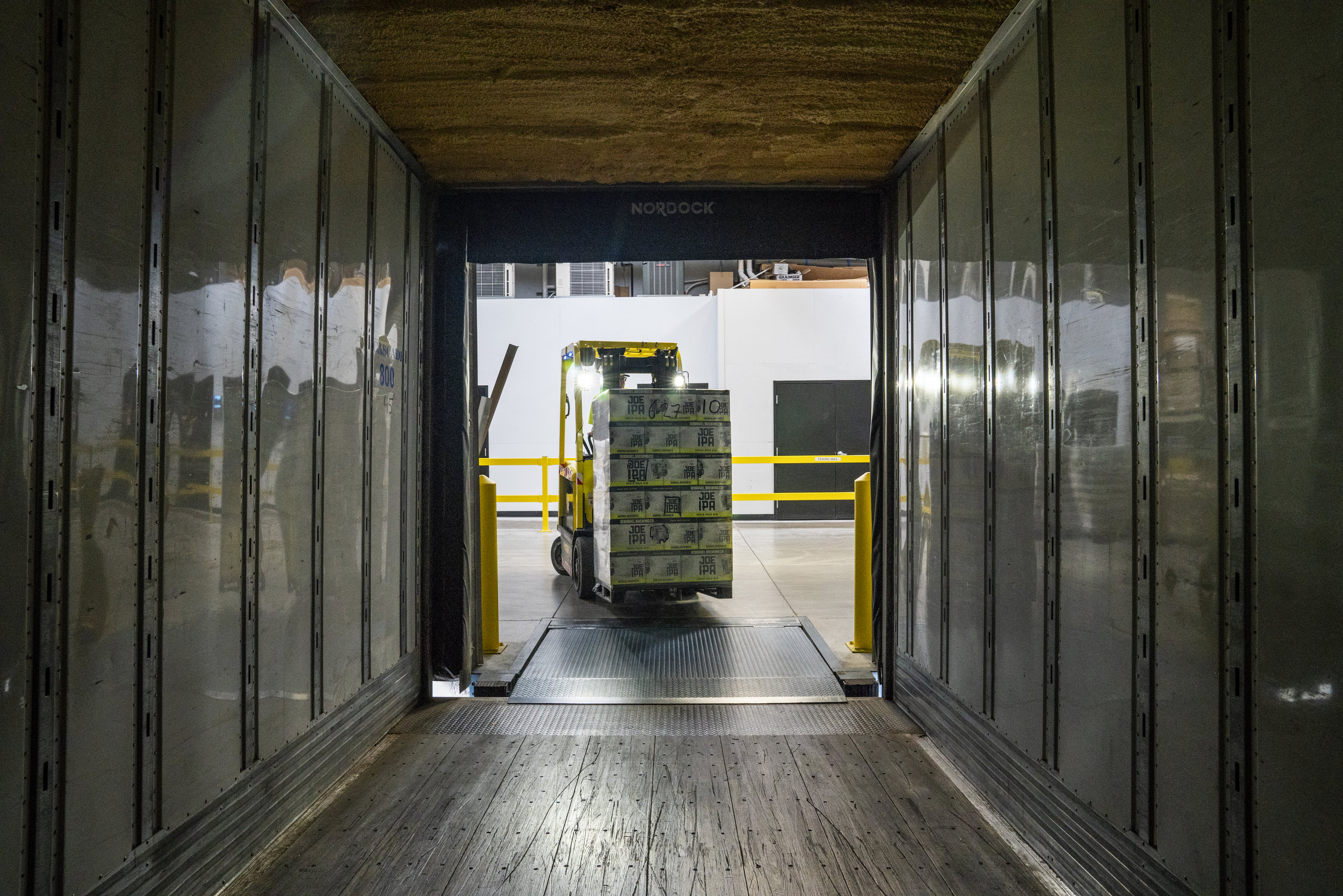 Transporting boxes around a warehouse is one of the most boring jobs a human can do, it is high unlikely that any human doing the job will get pleasure out of it and give it their best, so fortunately, there's a robot with no emotions waiting to replace the human