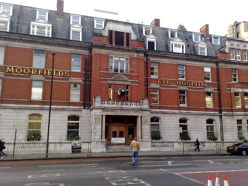 London's Moorfields Eye Hospital, where pioneering AI research with eye diseases is being conducted.