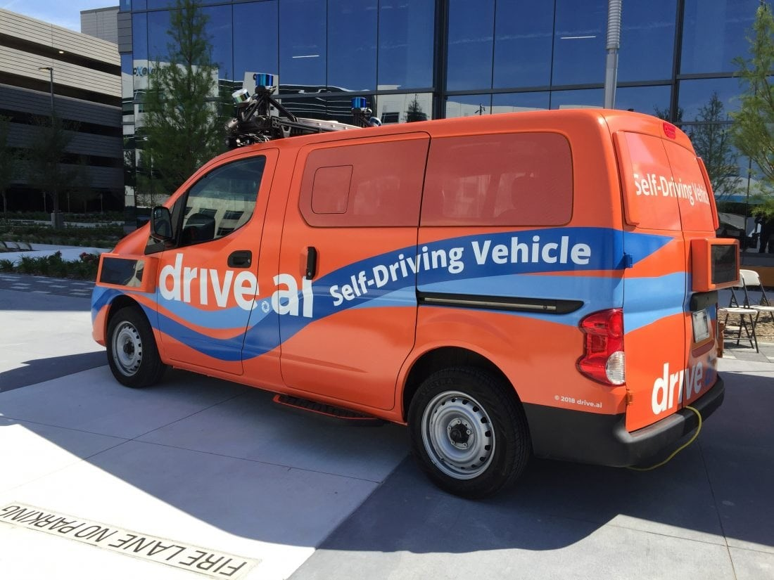 Drive.ai is a technology company headquartered in Mountain View, California that uses AI to make self-driving systems for cars.