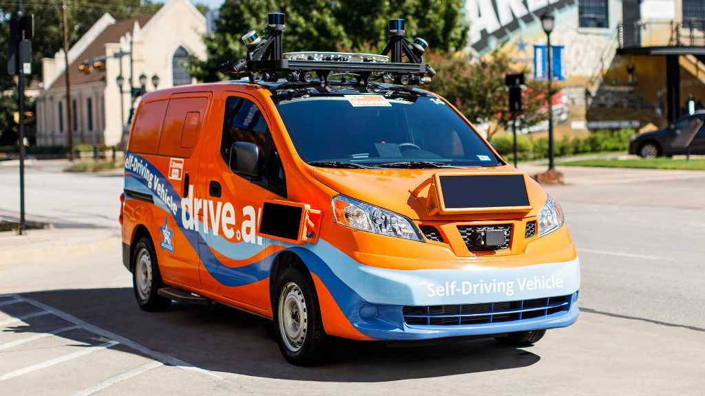 Typical Drive.AI self-driving car