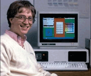 Bill Gates when he founded Microsoft.