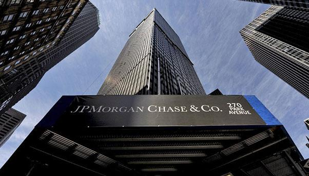 The headquarters of JP Morgan. JP Morgan & Co. is a commercial and investment banking firm that was established in 1871 by J. P. Morgan.