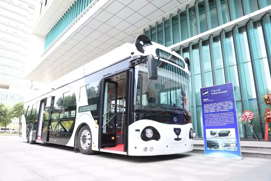 The iconic smart panda bus, present in urban areas throughout China. Source: Business Tianjin Magazine