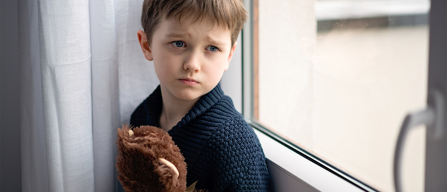 An image of a young boy who shows visual signs of depression, although to many, it seems that childhood depression is a myth, a potent misunderstanding that is sadly accompanied by stigma and an assumption that mental illness is taboo. Credit: Brain and Behavioural Research Foundation