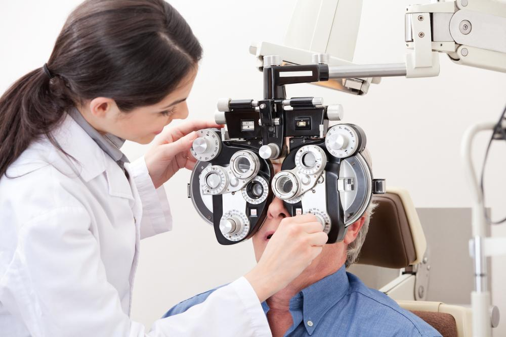 Stock image showing an optometrist in diagnostic action, a process that could very well be rapidly sped up with the advent of AI. Credit: Complete Eyecare of Medina, Plymouth Eye Doctor