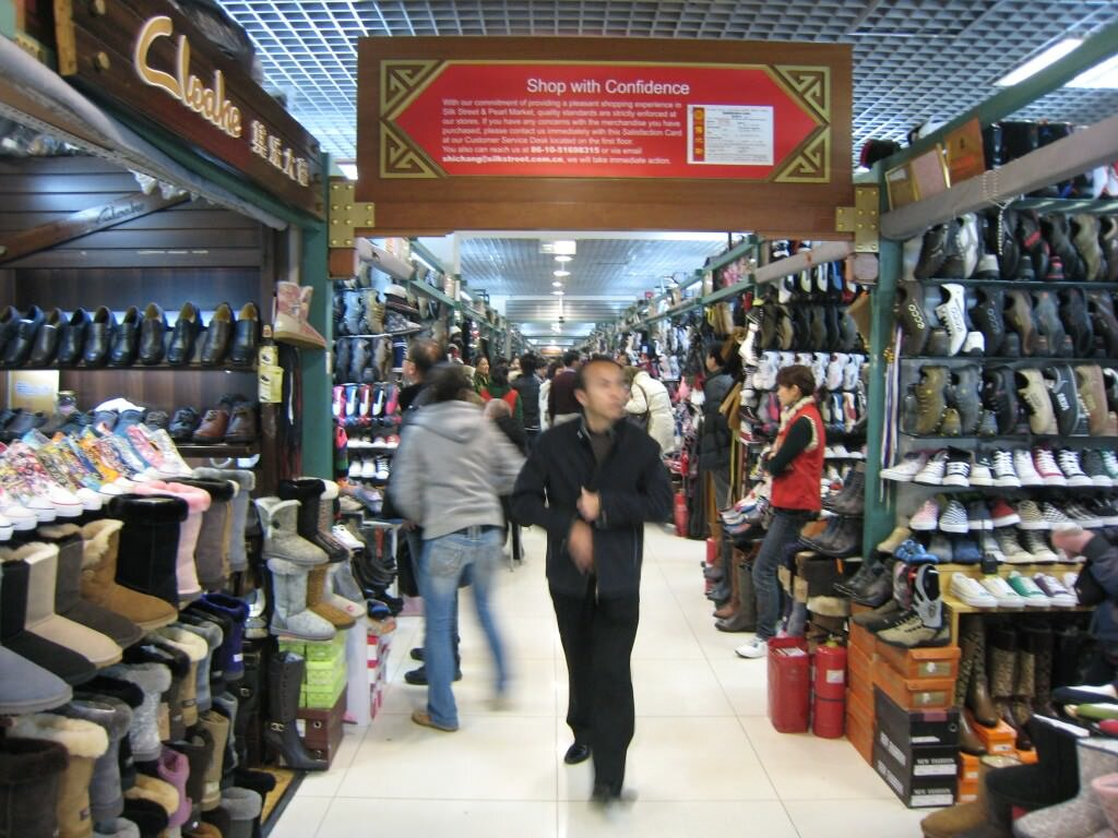 Traditional counterfeit market in Beijing