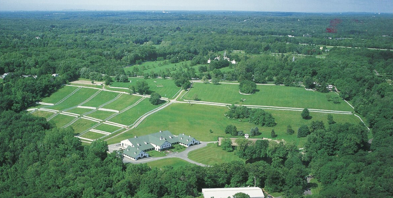 An aerial view of Back Country's Lion Share Farm in Greenwich, CT.