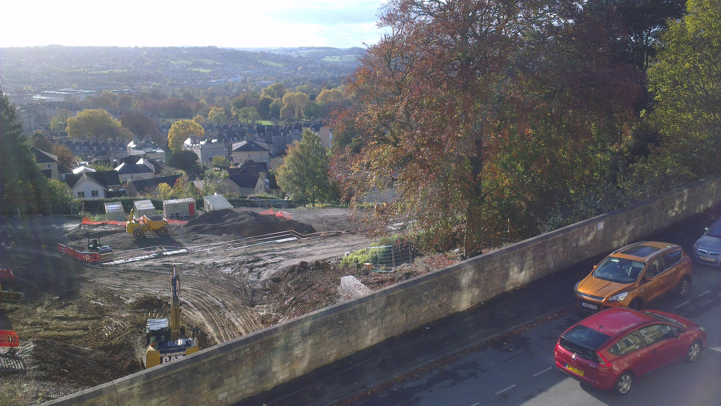 Autumn view from Lansdown Place East