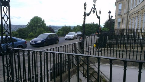 Finial fitting in Lansdown Crescent ii