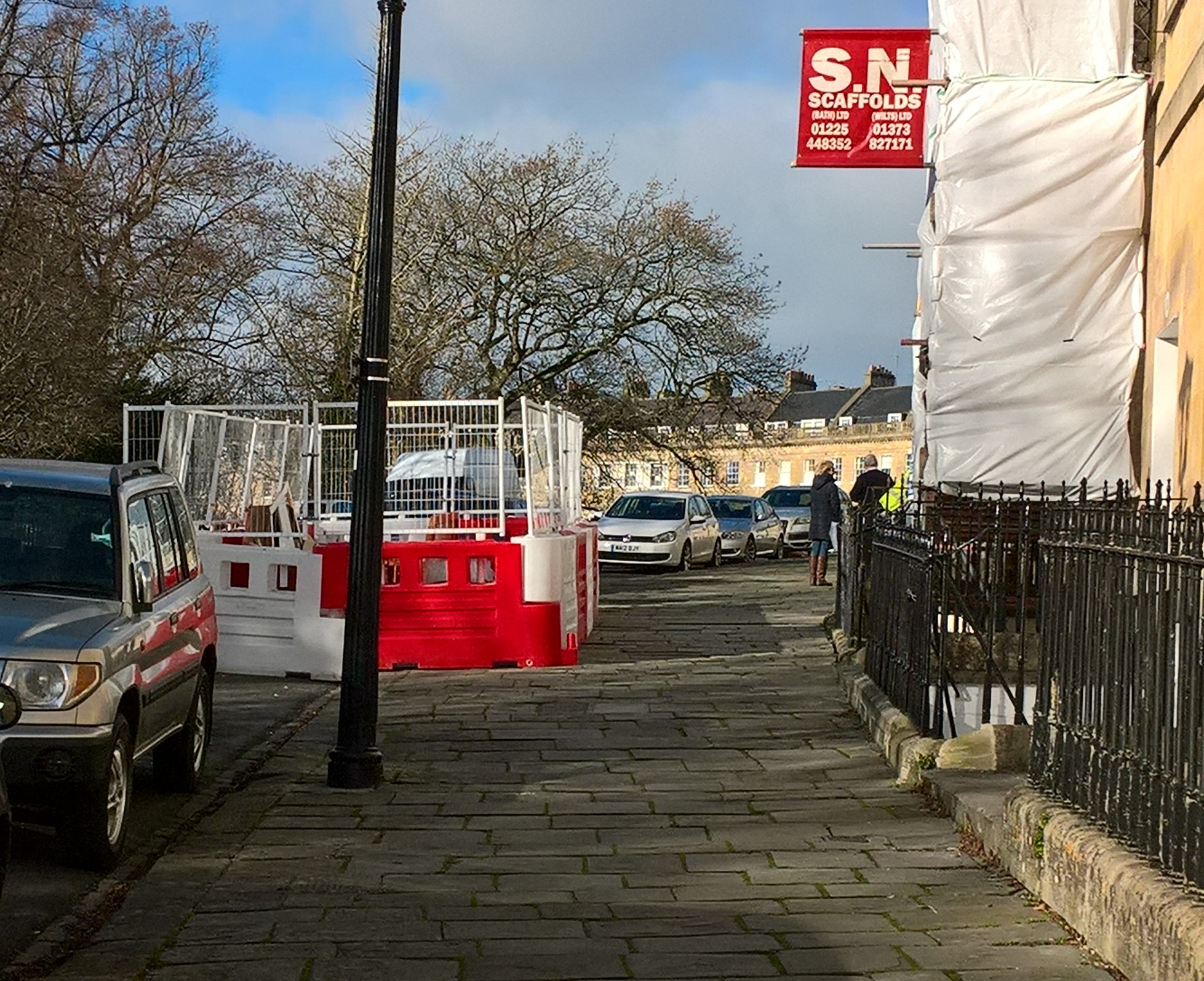 Health and Safety gone mad in Lansdown Place East