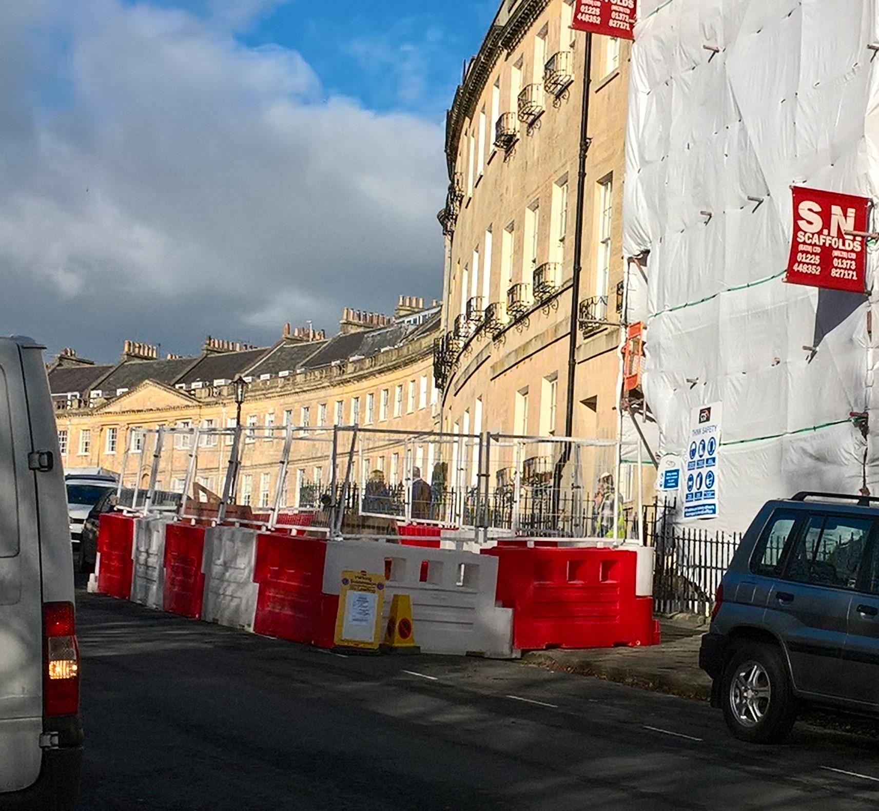Health and Safety gone mad in Lansdown Place East ii