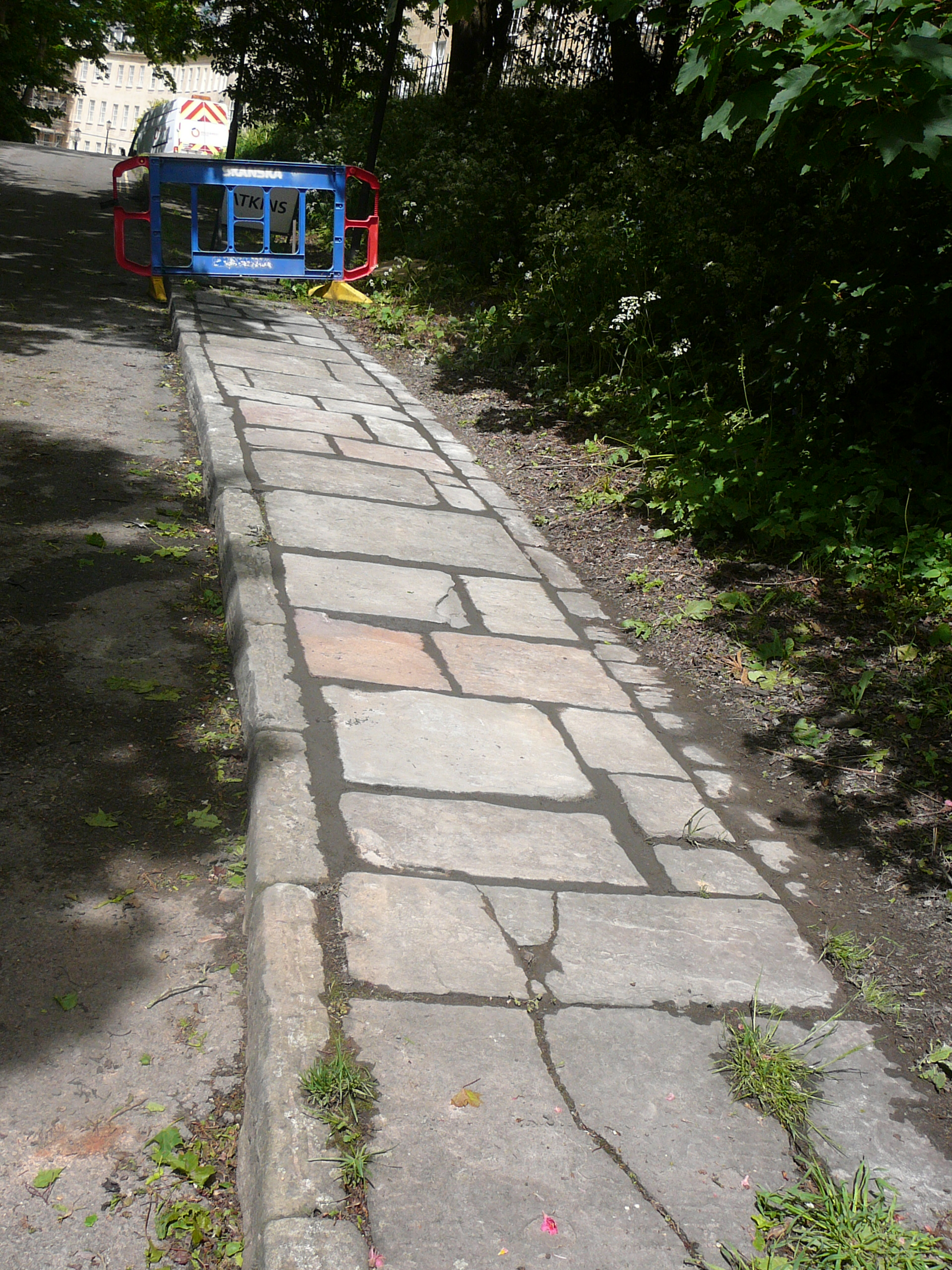 Stolen pennant stones in All Saints Road securely replaced at last, 20.5.15