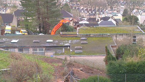 Demolition on the Hope House site