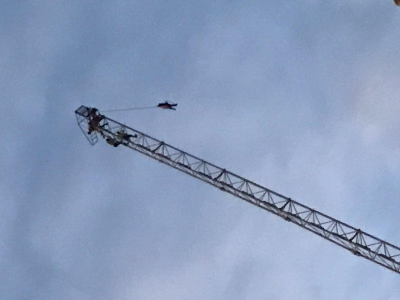 Crane climbers at Hope House