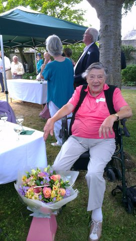 Dr Marianna Clark celebrating 60 years in Lansdown Place East, July 2013