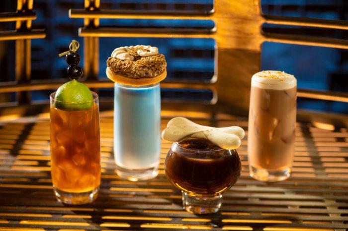 Moogan Tea, Blue Bantha, Bloody Rancor and Black Spire Brew ©Disney Parks