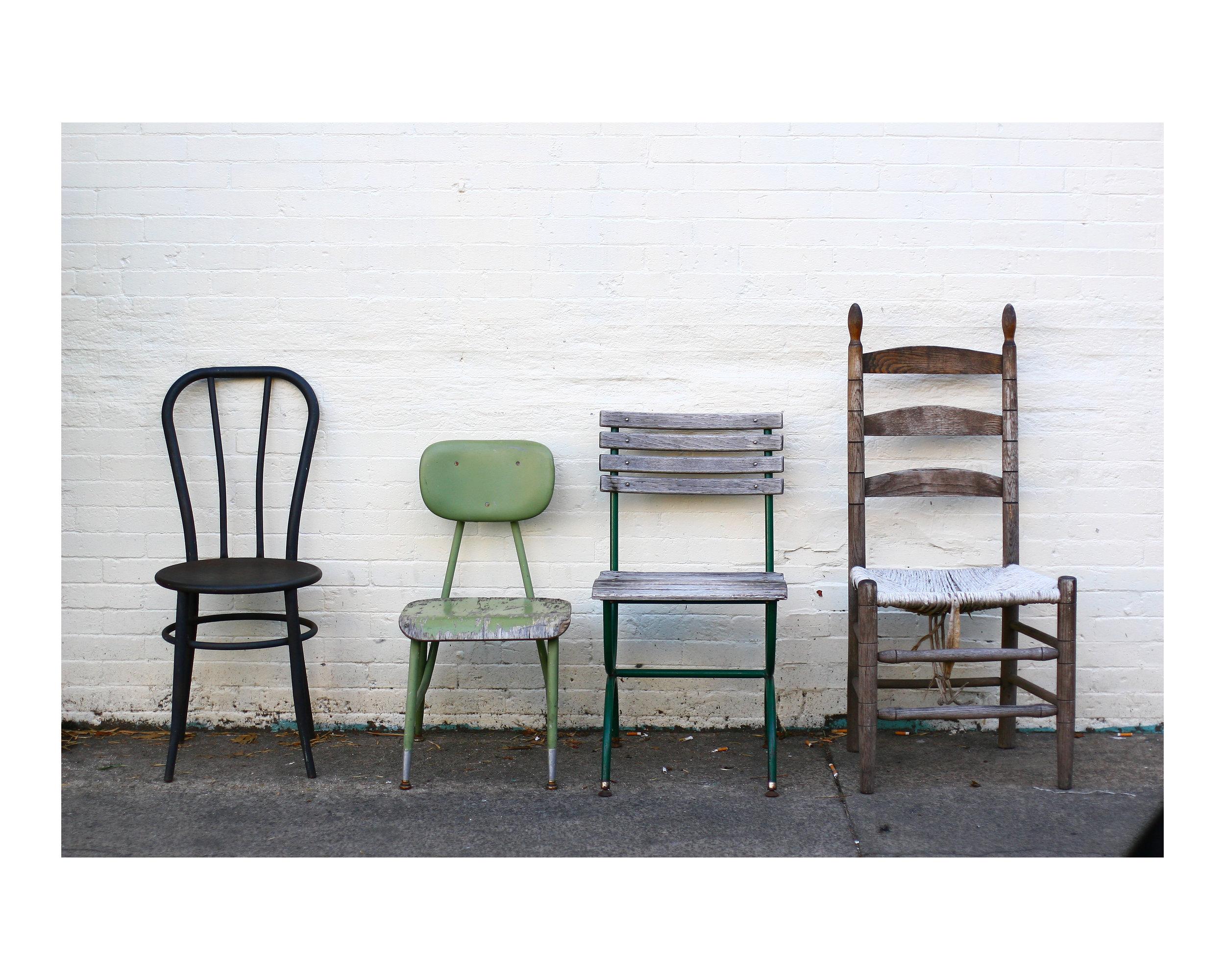 midcentury chairs fine art photo print
