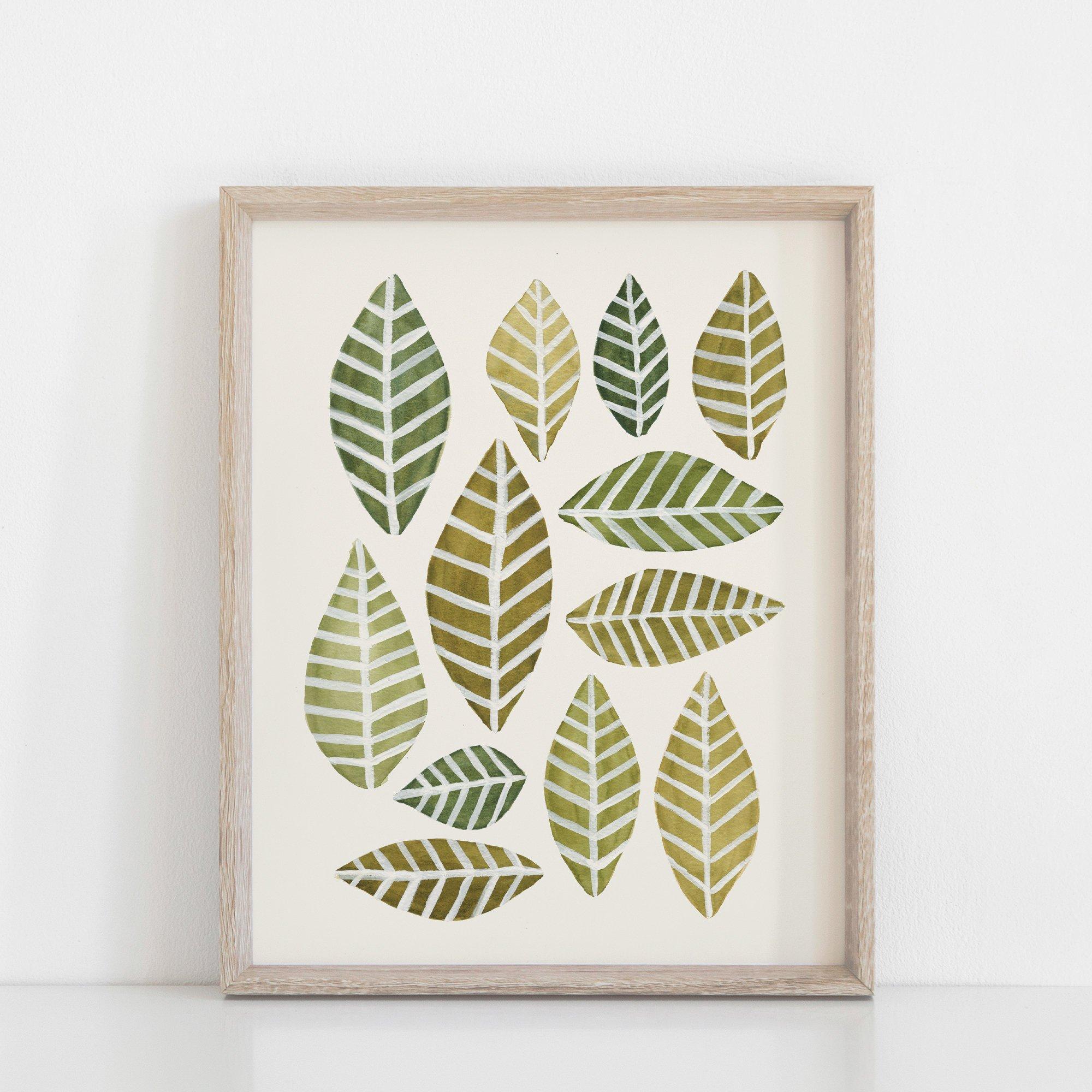 Leaves Arrangement Art Print