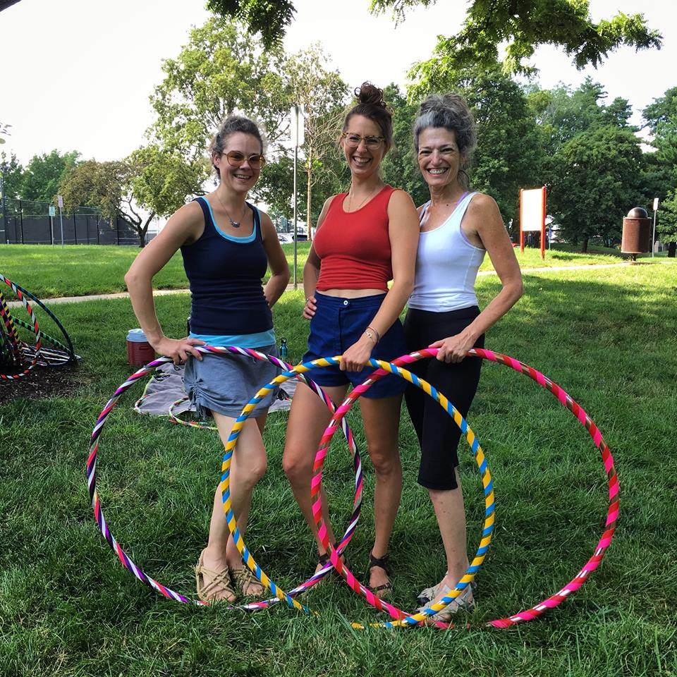 Joyful Movement - Find empowerment through joyful movement in the hula hoop. Joyful movement stimulates the lymph system, where we store much of our unprocessed emotional trauma, blocking the energetic pathways in the body. Participating in joyful movement helps to heal emotional blockages and results in increased confidence, energy levels, focus, flexibility and balance. Contact Meredith to schedule a lesson or class.
