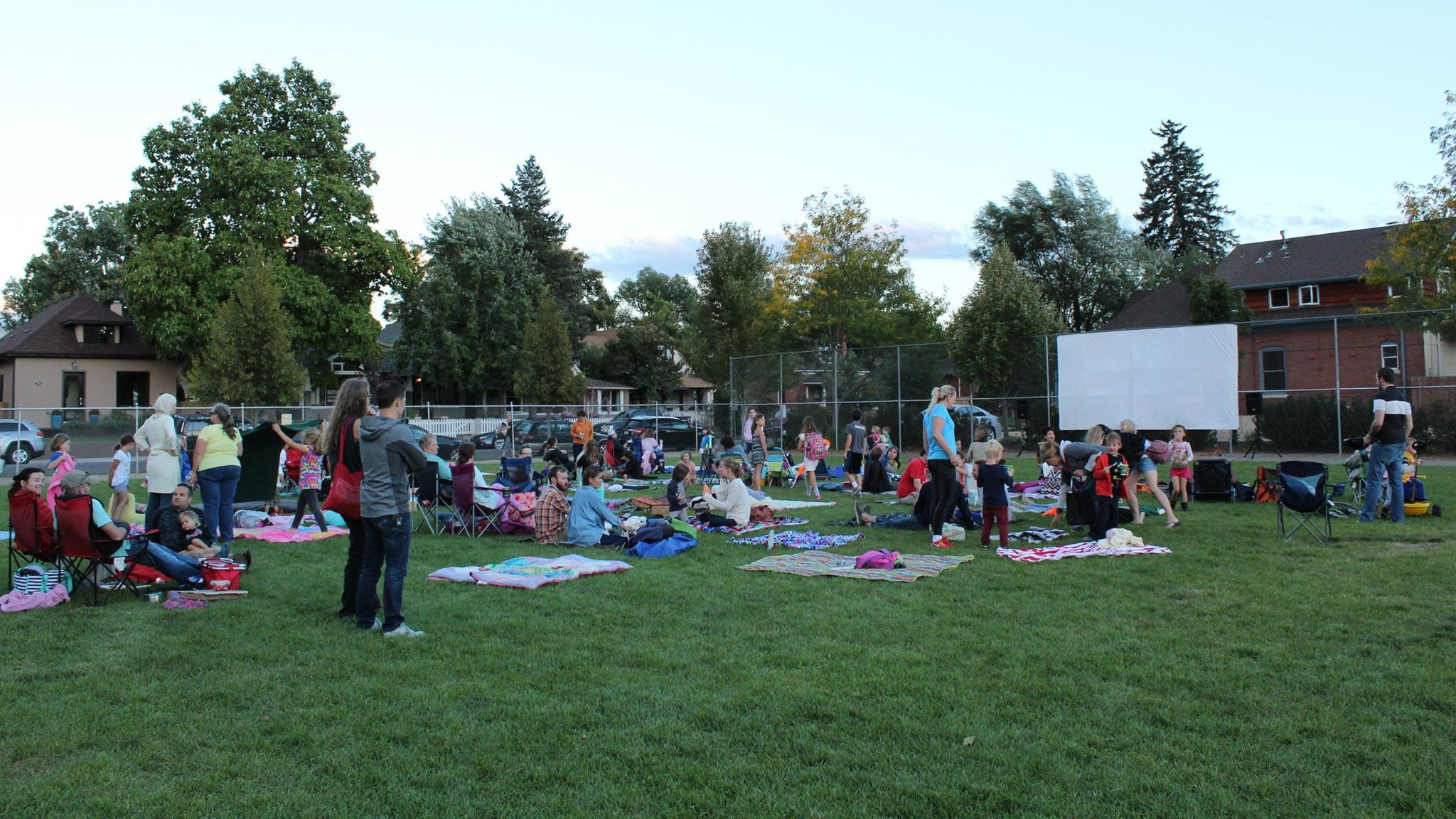 2016 Outdoor Movie Night at Lincoln Elementary