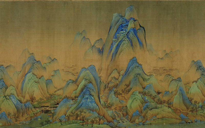 One Thousand Li of Rivers and Mountains, Wang Ximeng of the late Northern Song dynasty (960–1127).