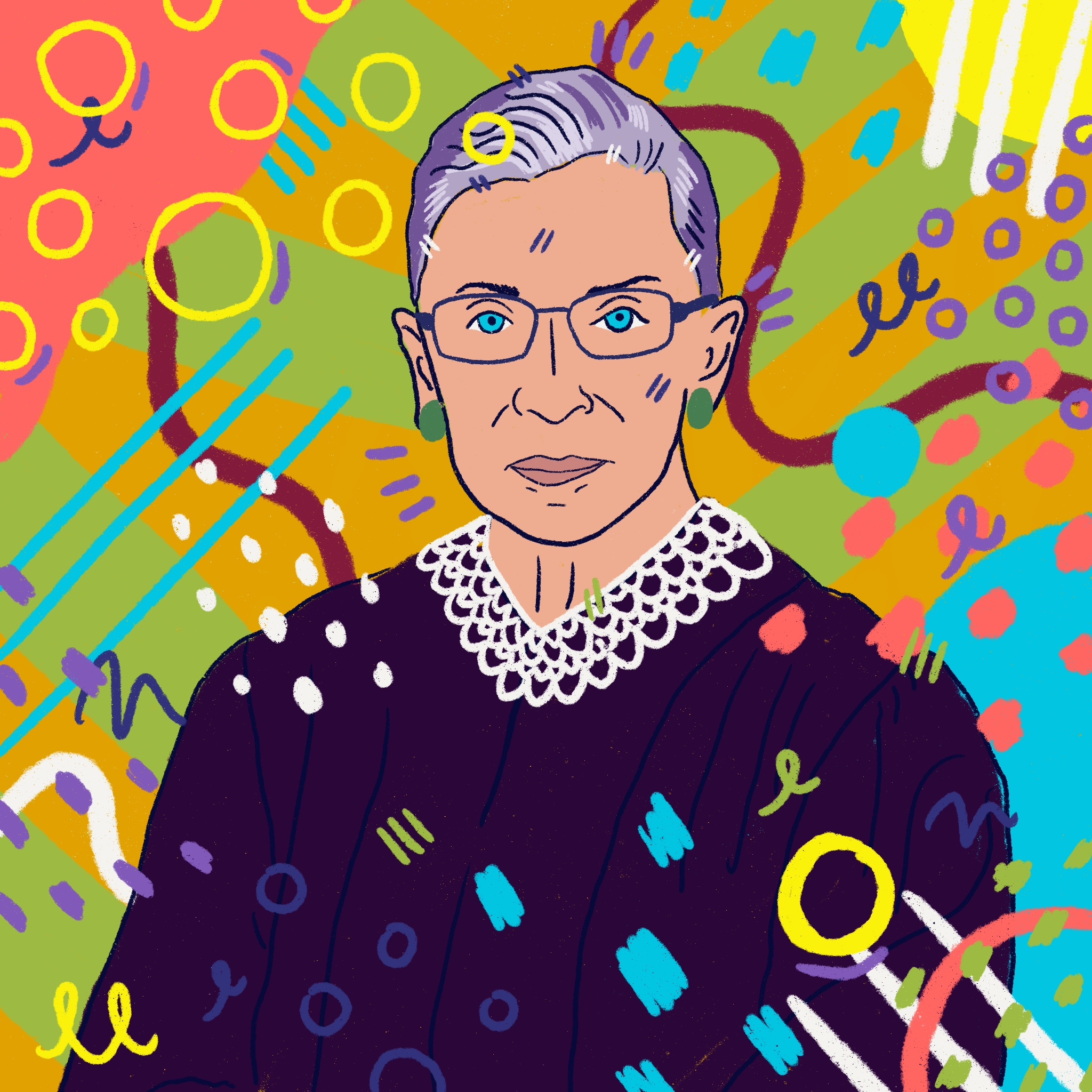 Commissioned portrait of Ruth Bader Ginsburg