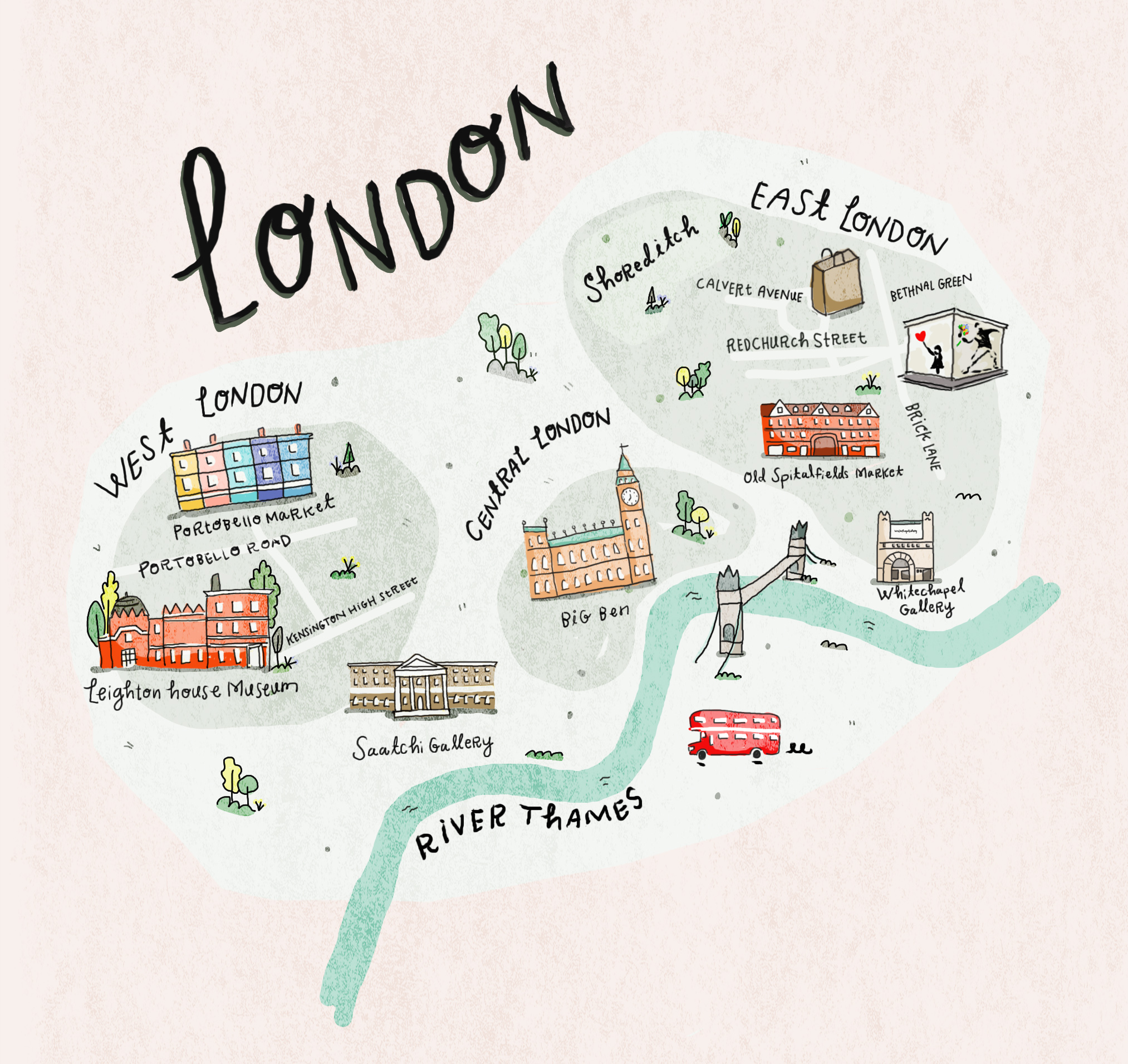 Who What Wear map of London in collaboration with Lucia Pica and Chanel